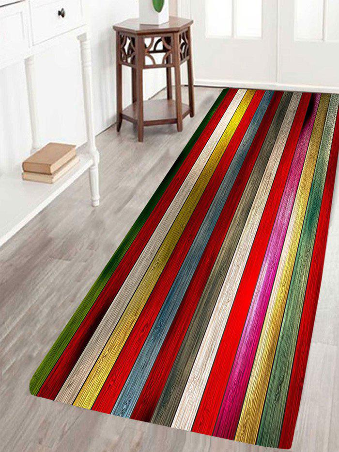 Unique Colorful Laths Printed Skidproof Rug
