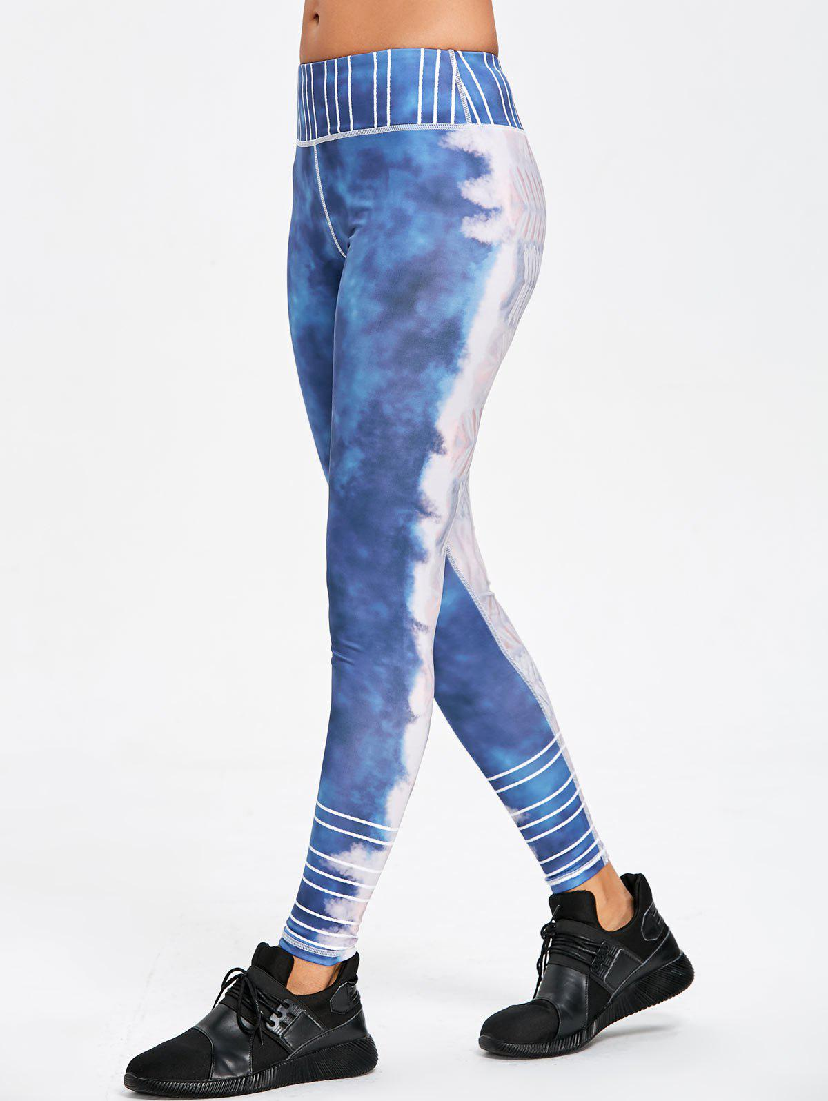 New Striped Tie Dye Sports Leggings