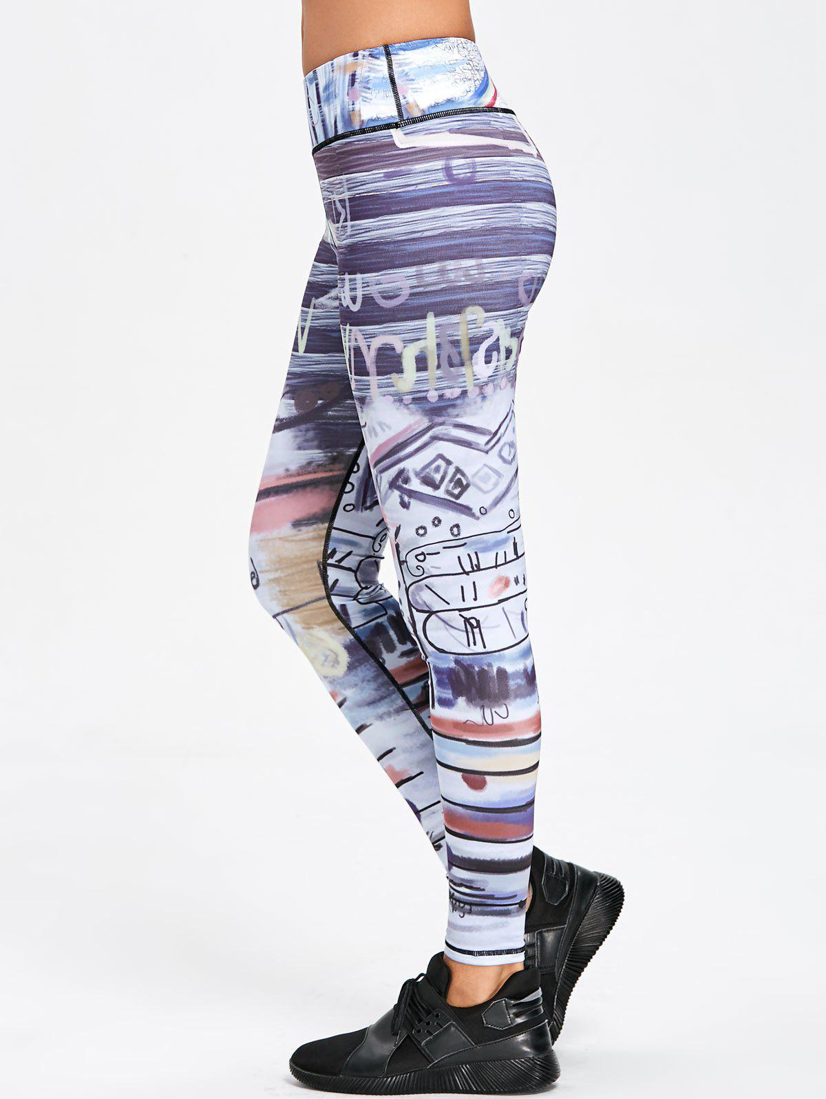 Affordable Art Print Skinny Sports Leggings