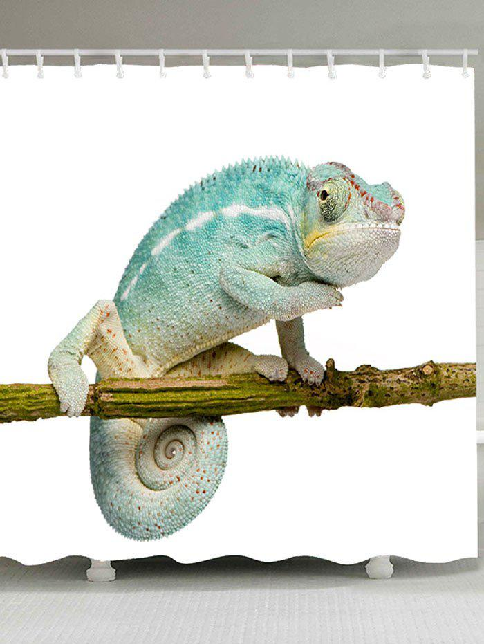 Fashion Chameleon Stand on the Tree Printed Shower Curtain