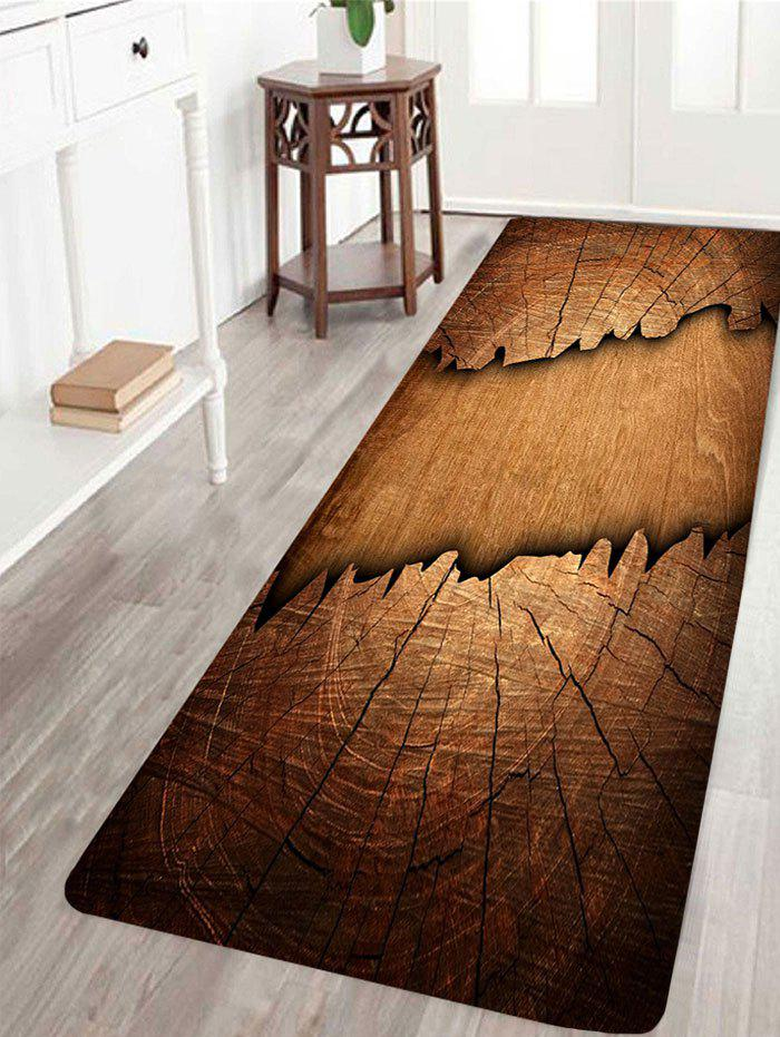 Chic Cracked Laths Print Water Absorption Area Rug