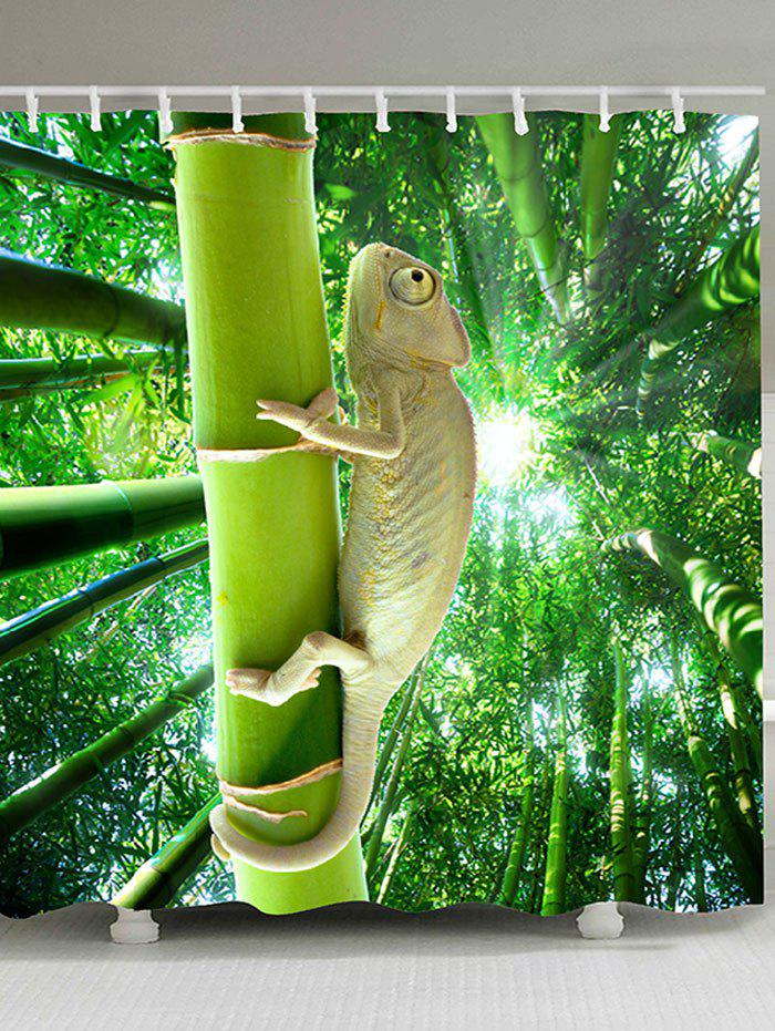 Online Lizard Climbing the Tree Patterned Shower Curtain