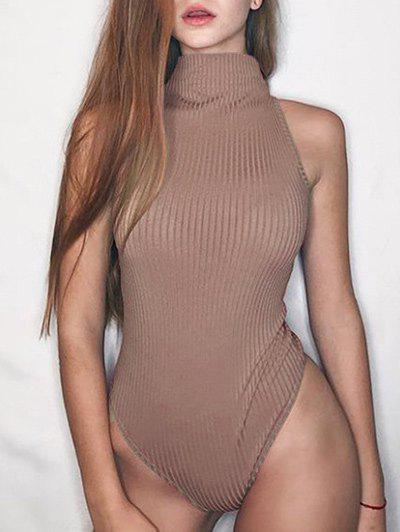 Store Mock Neck Ribbed Bodysuit