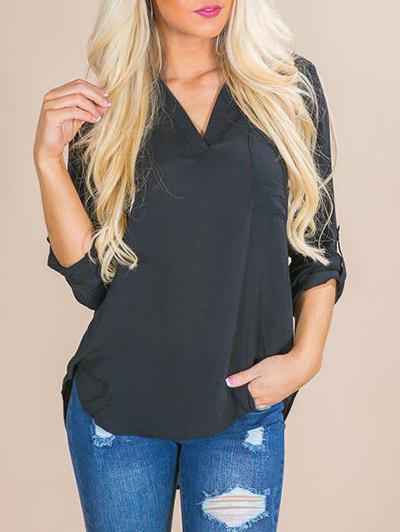 Store V Neck Front Pocket Shirt