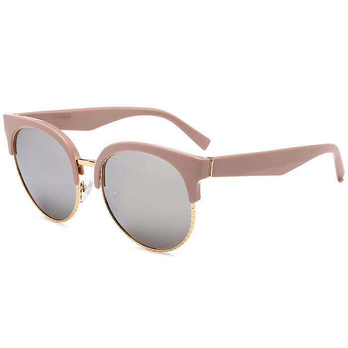 Outfits Unique Half Frame Cat Eye Round Sunglasses
