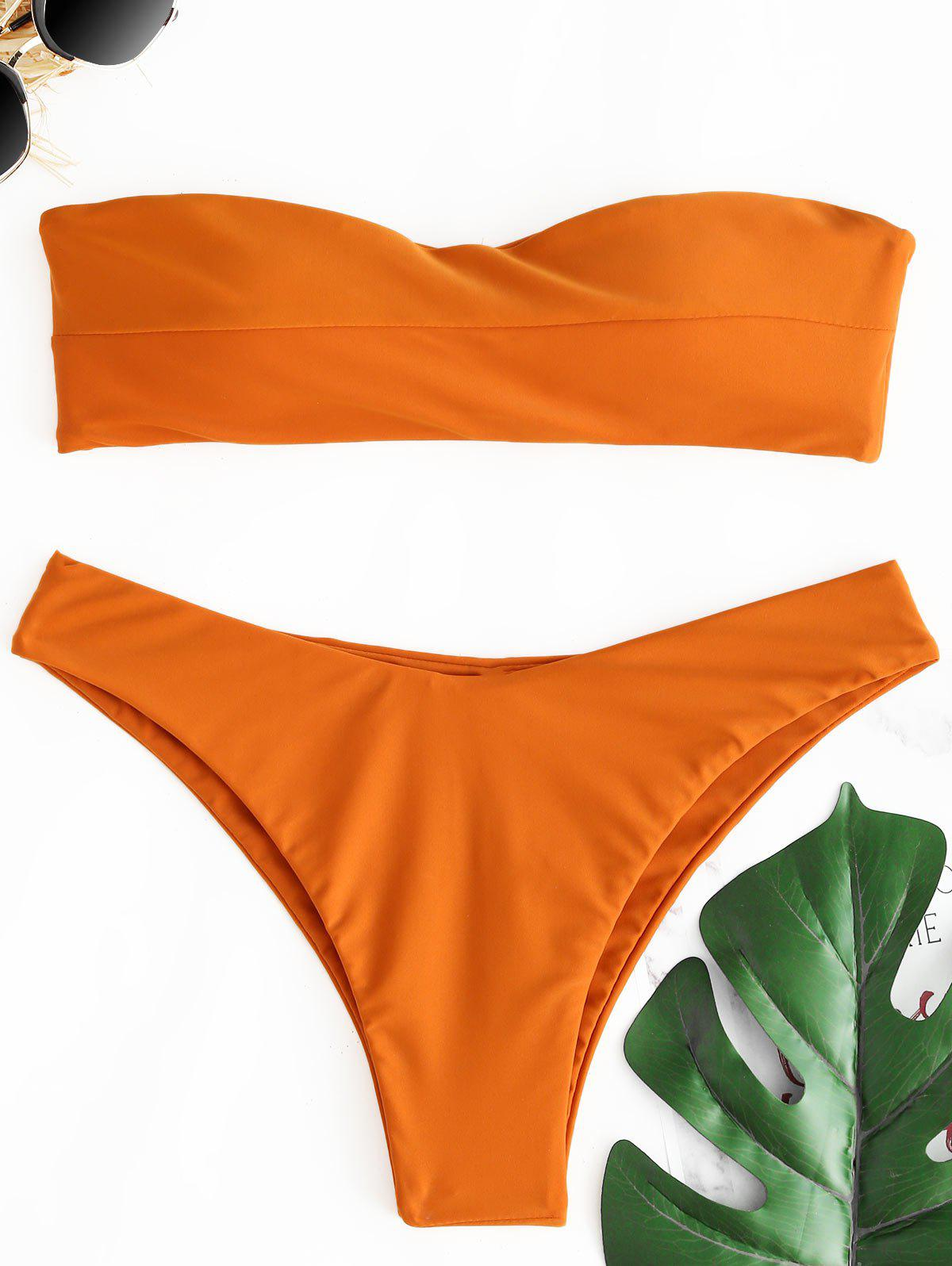 Cheap Thong Bandeau Bikini Set