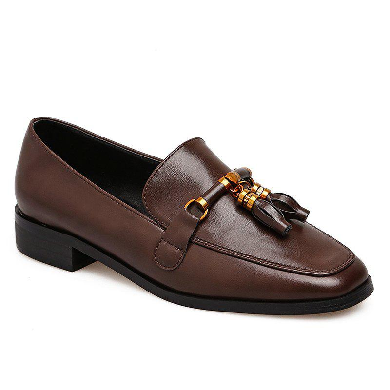 Sale Square Toe Tassels Loafers