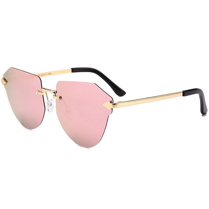 Outfits Vintage Arrow Decorated Irregular Rimless Sunglasses