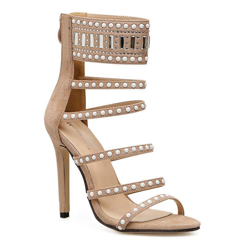Latest Beaded Super High Heel Strappy Sandal