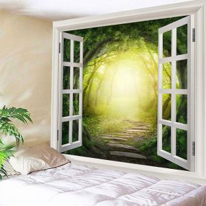 Waterproof Dreamy Forest Printed Polyester Wall Hanging Tapestry -