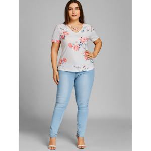 Rose Plus Size Caged Cutout T-shirt -