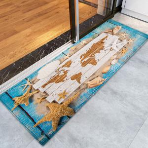 Sand Starfish Shell Pattern Water Absorption Area Rug -