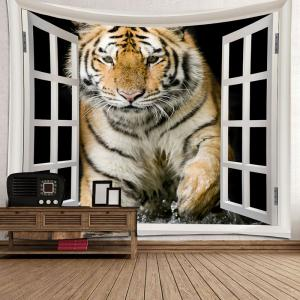 Tiger Printed Art Decor Waterproof Hanging Tapestry -
