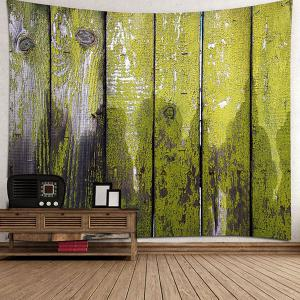 Old Wood Board Printed Wall Decor Tapestry -