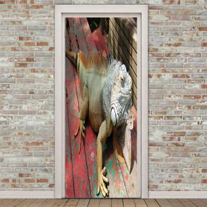 Lizard Patterned Decorative Door Stickers -