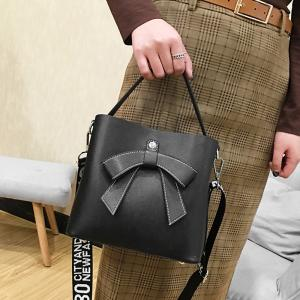 Casual Shopping Handbag with Letter Print Strap -