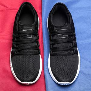 Casual Color Block Mesh Sneakers -