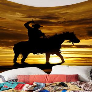 West Cowboy Rider Pattern Wall Tapestry -