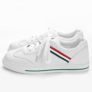 Stitching Color Block Striped Sneakers -