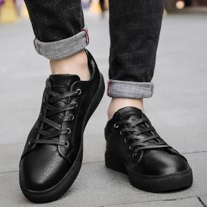 Casual Faux Leather Skate Shoes -