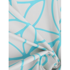 Раунд Fringed Lotus Print Beach Throw -