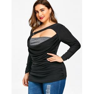 Plus Size Ruched Cut Out T-shirt -