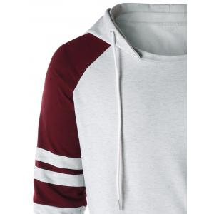 Sweat à capuche deux tons raglan -