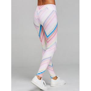 Zigzag Print Skinny Sports Leggings -