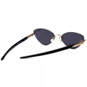 Rimless Straight Legs Cat Eye Sunglasses -