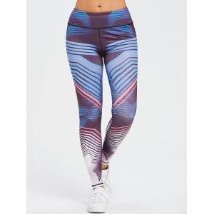Ombre Striped Skinny Sports Leggings -