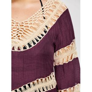 Plus Size Crochet Openwork Cover-Up -