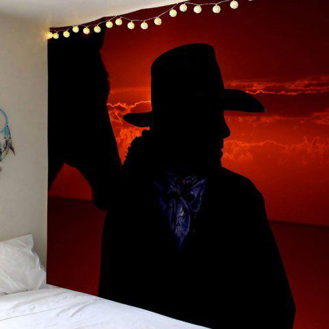 Buy West Cowboy at Sunset Printed Wall Art Tapestry