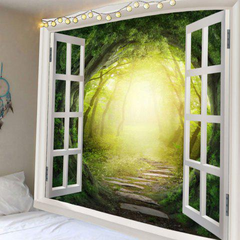 Discount Waterproof Dreamy Forest Printed Polyester Wall Hanging Tapestry