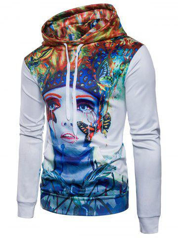 Outfits Butterfly Figure Paint Splatter Hoodie