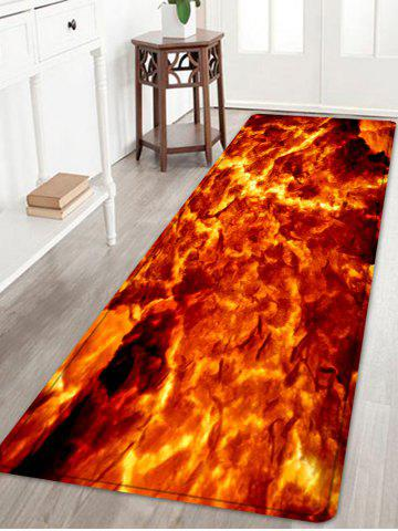 Hot Lava Pattern Water Absorption Area Rug