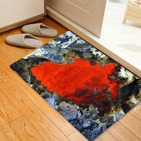 Trendy Ablaze Rock Cave Pattern Water Absorption Area Rug