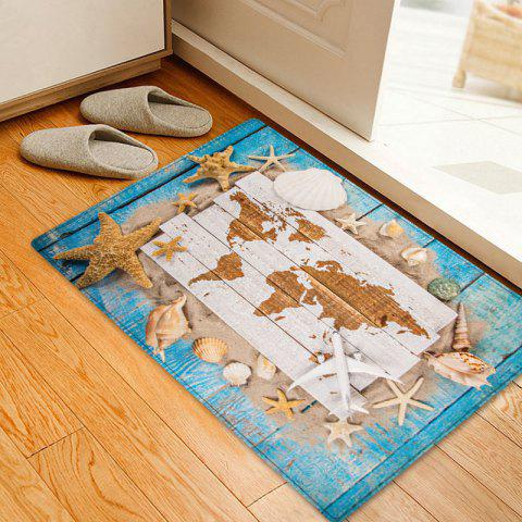 Buy Sand Starfish Shell Pattern Water Absorption Area Rug