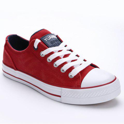 Hot Lace Up Canvas Skate Shoes