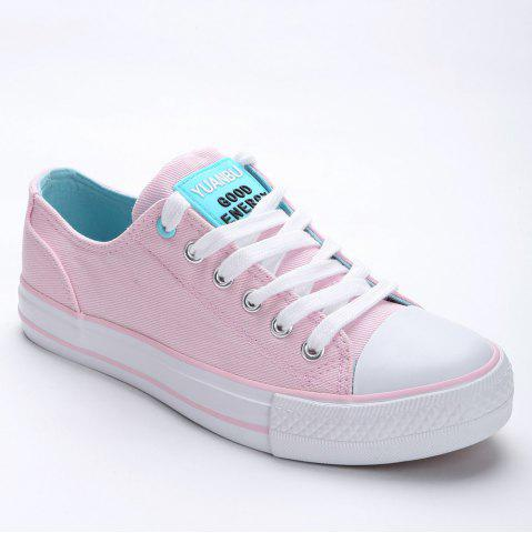 Fancy Lace Up Canvas Skate Shoes