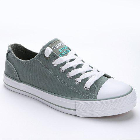 Sale Lace Up Canvas Skate Shoes