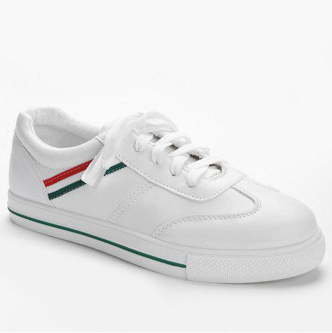 Best Stitching Color Block Striped Sneakers