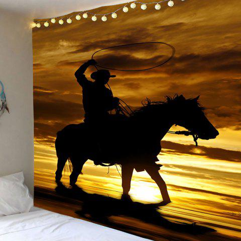 Fancy West Cowboy Rider Pattern Wall Tapestry