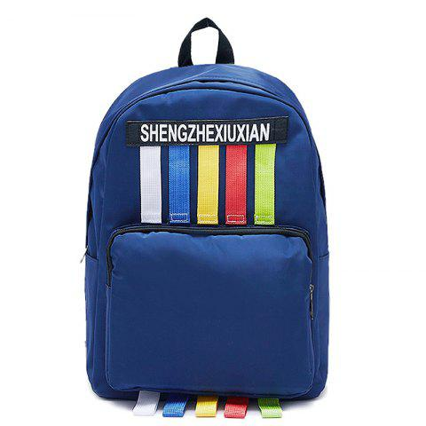 Discount Letter Striped Backpack