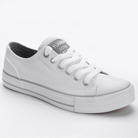Trendy Lace Up Canvas Skate Shoes