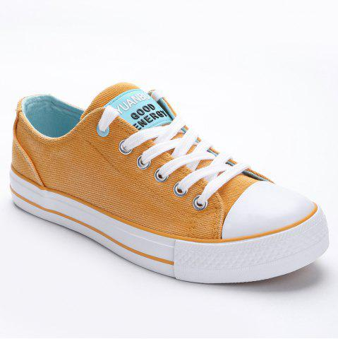 Chic Lace Up Canvas Skate Shoes