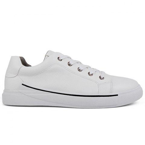 Trendy Casual Faux Leather Skate Shoes