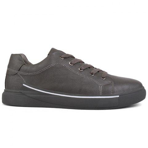 Affordable Casual Faux Leather Skate Shoes