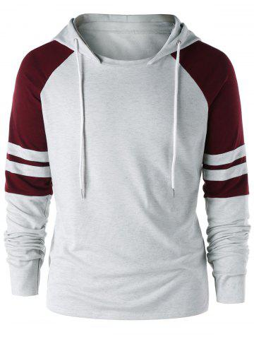 Sweat à capuche deux tons raglan
