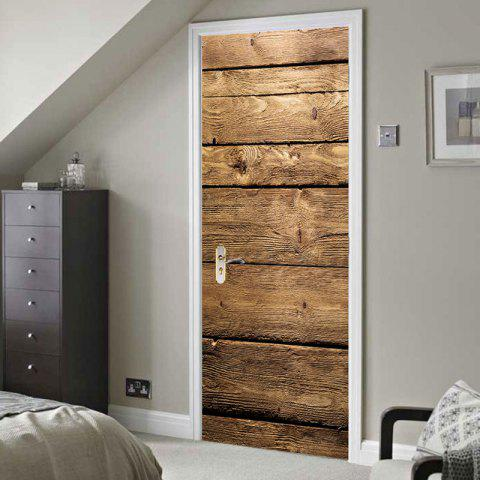 Buy Woodgrain Pattern Door Cover Stickers