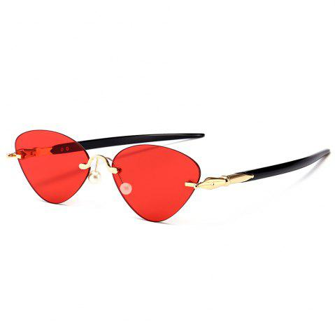 Rimless Straight Legs Cat Eye Sunglasses